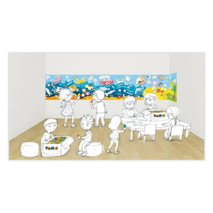 PlayMais Eduline giant wall frieze landscape